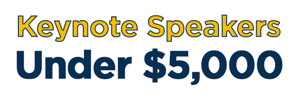 Keynote speakers under $5,000 logo