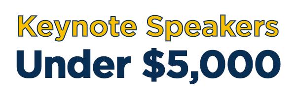 Keynote speakers under $5,000 logo